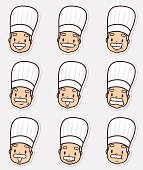 Icon Set: Mature Chef in various moods ( Emoticons )
