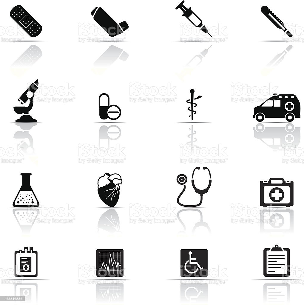 Icon Set, Medicine vector art illustration