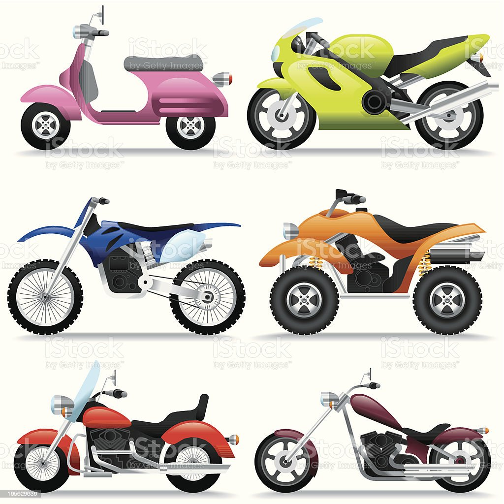 Icon Set, Motorcycles royalty-free icon set motorcycles stock vector art & more images of 4x4