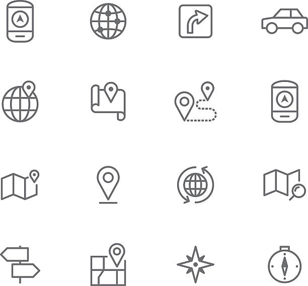 Icon Set, Navigation - Illustration vectorielle