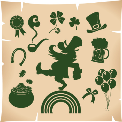Icon set of St. Patrick's day