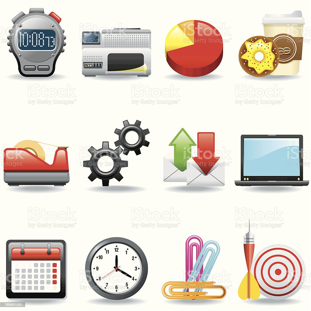 Icon Set, Office royalty-free stock vector art