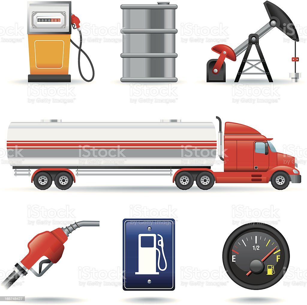 Icon Set, Oil industry vector art illustration