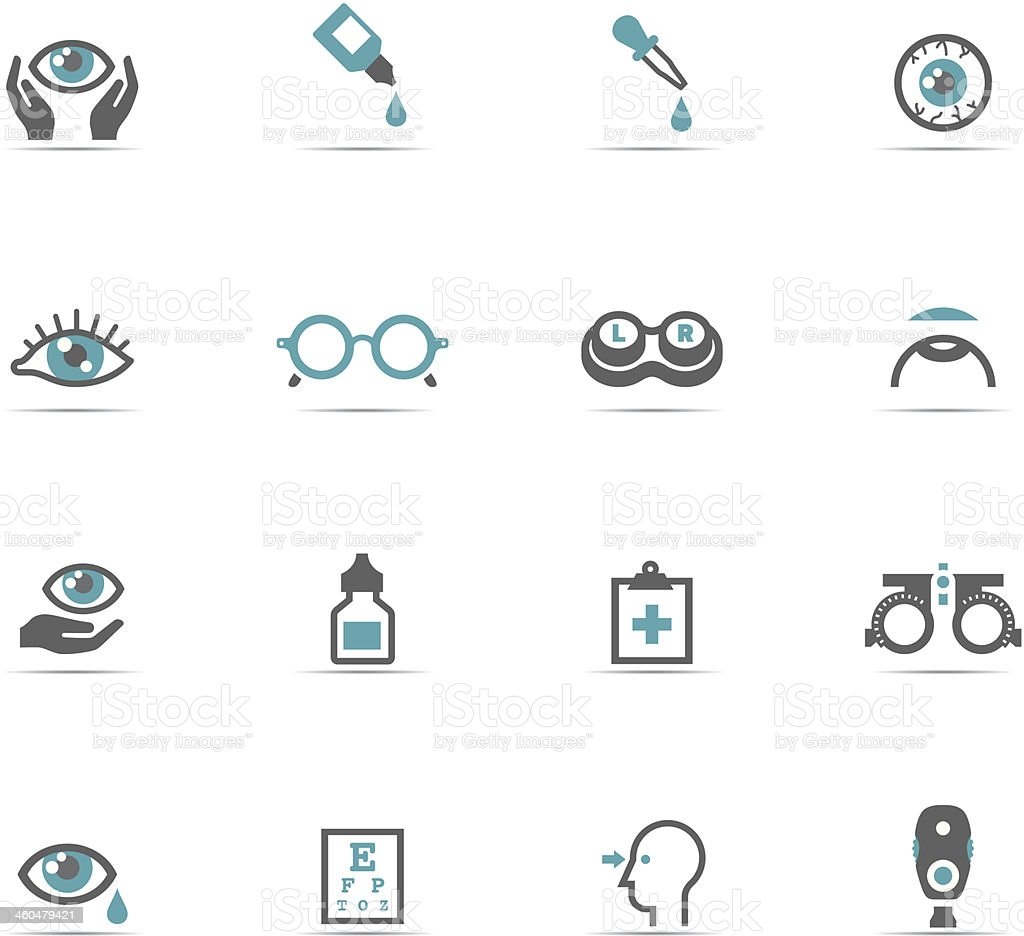 Icon Set, Optometry royalty-free stock vector art