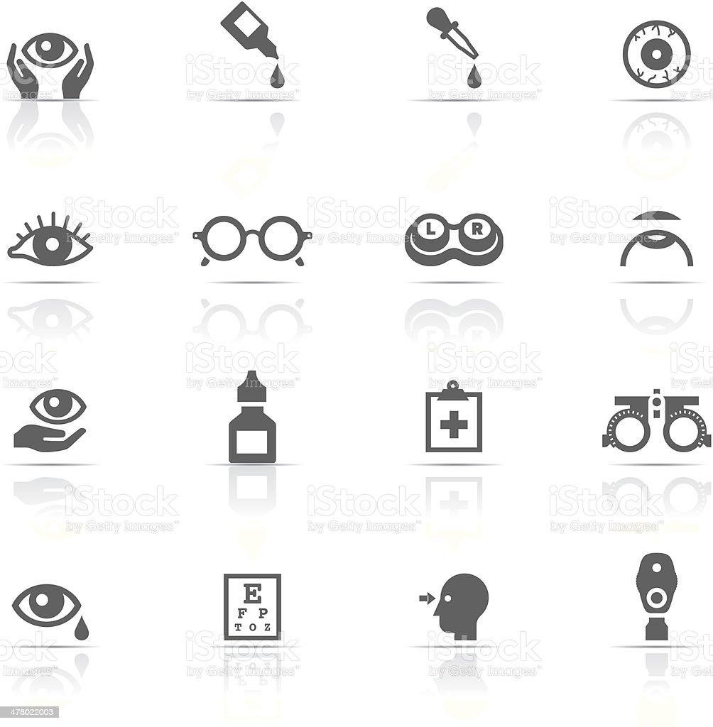 Icon-Set, Optometry – Vektorgrafik