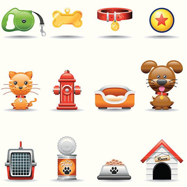 icon-set, haustiere - hundebetten stock-grafiken, -clipart, -cartoons und -symbole