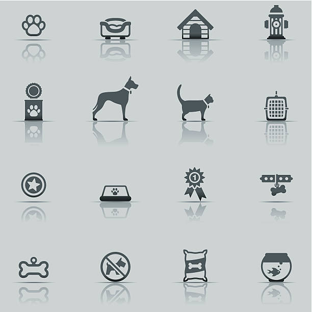 icon set, pets - dog treats stock illustrations
