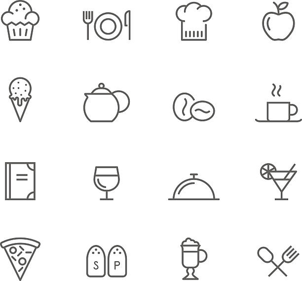 アイコンセット、レストラン - 高級料理点のイラスト素材/クリップアート素材/マンガ素材/アイコン素材