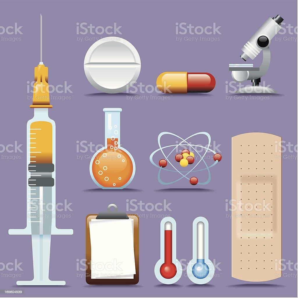 Icon Set, Science and Medical royalty-free icon set science and medical stock vector art & more images of adhesive bandage