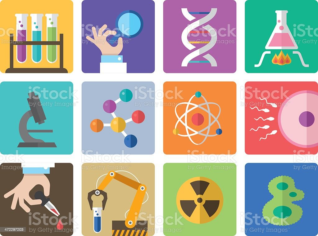 Icon Set, Science royalty-free icon set science stock vector art & more images of atom