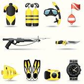 Icon set, Scuba Diving