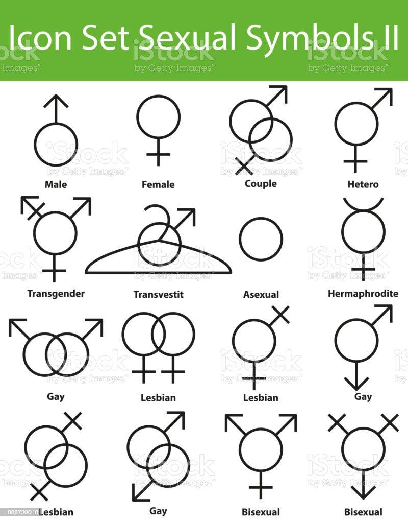 Icon Set Sexuelle Symbole Ii Stock Vektor Art und mehr Bilder von ...