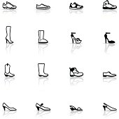 Icon Set, Shoes on white background, made in adobe Illustrator (vector)