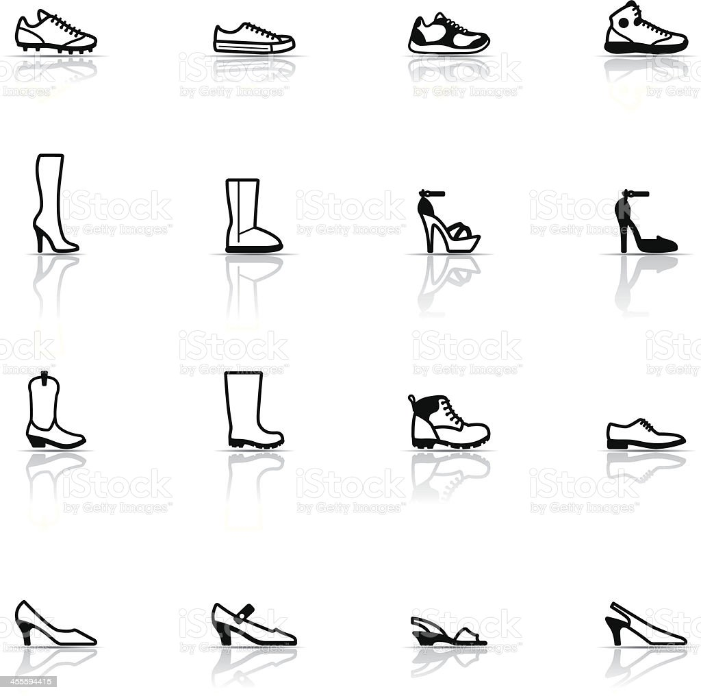 Icon Set, Shoes vector art illustration