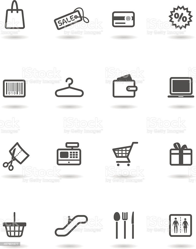 Icon Set, Shopping Mall royalty-free icon set shopping mall stock vector art & more images of bag