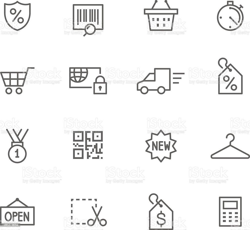 Icon Set, Shopping vector art illustration