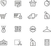 Icon Set, Shopping