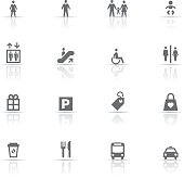 Icon Set, Shopping things on white background, made in adobe Illustrator (vector)