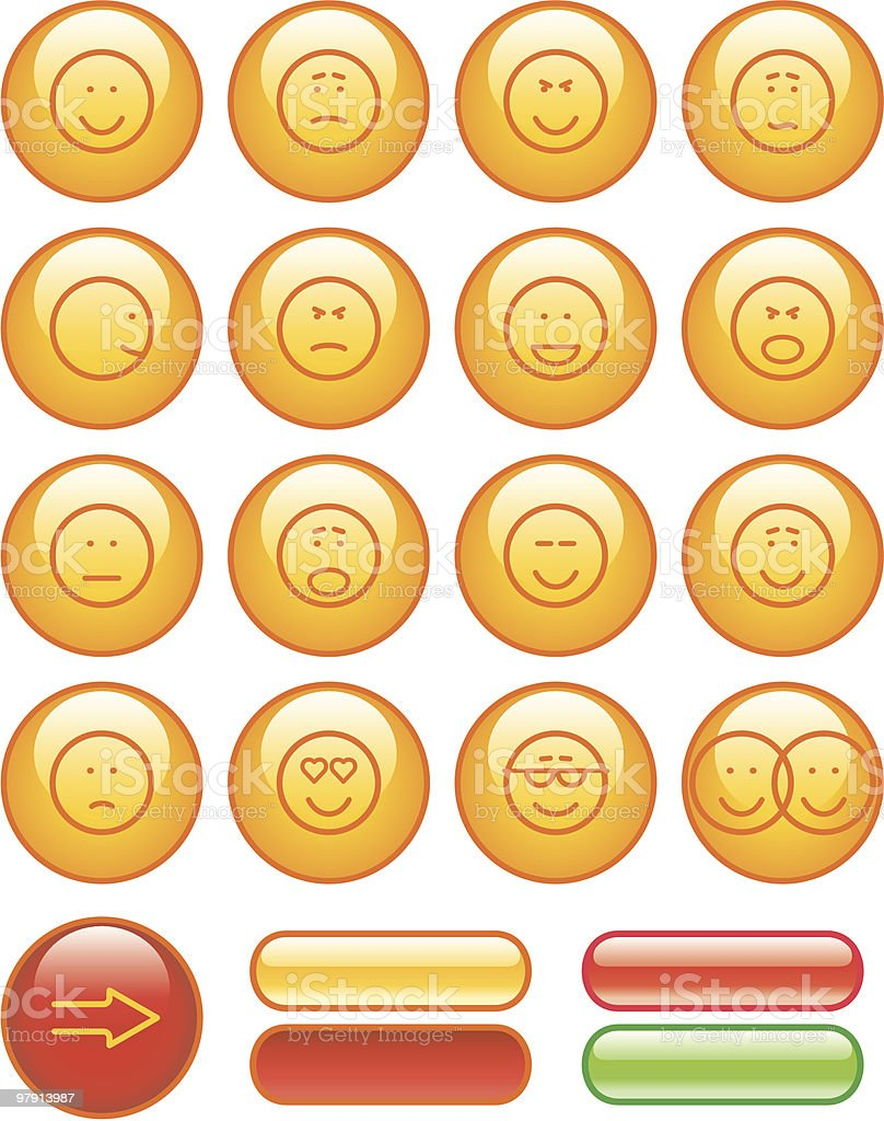 Icon Set- Smiley royalty-free icon set smiley stock vector art & more images of anger