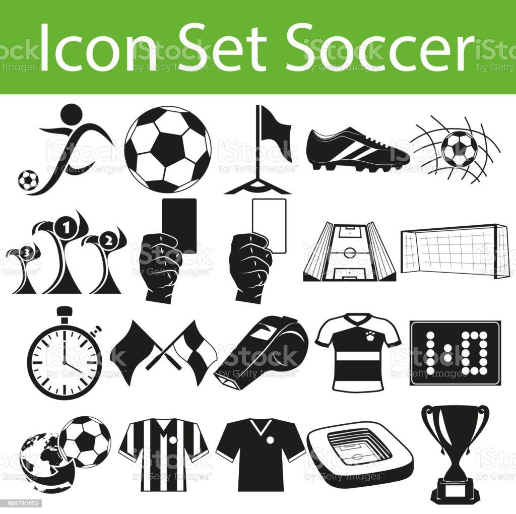 Icon Set Fußball – Vektorgrafik