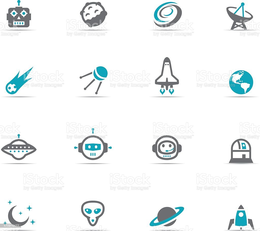 Icon Set, Space royalty-free stock vector art