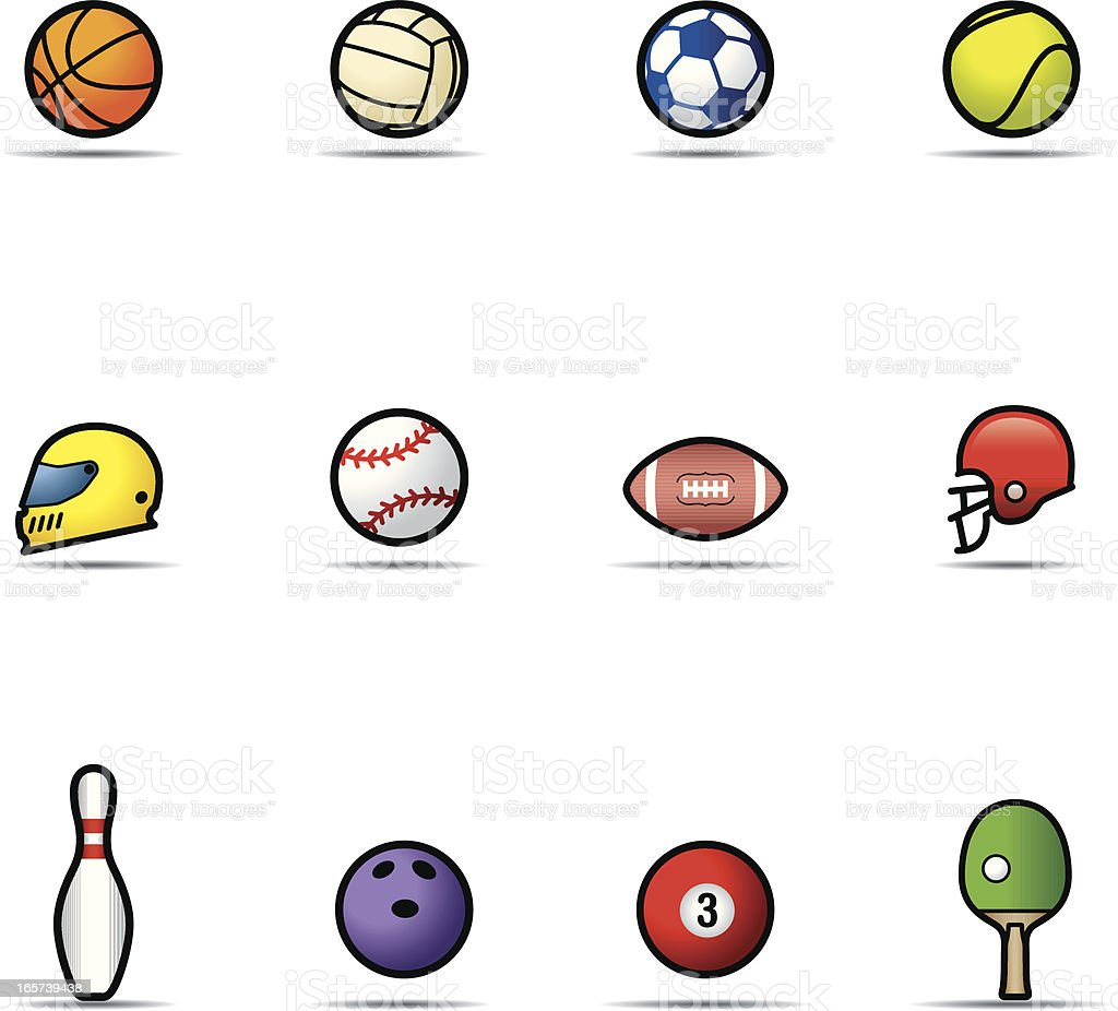 Icon Set, Sports Balls royalty-free stock vector art