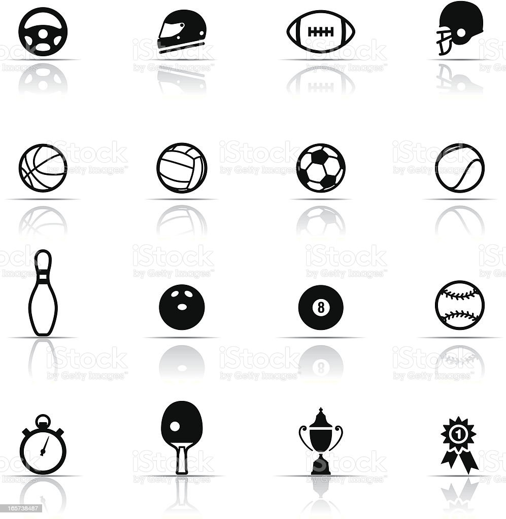 Icon Set, Sports vector art illustration