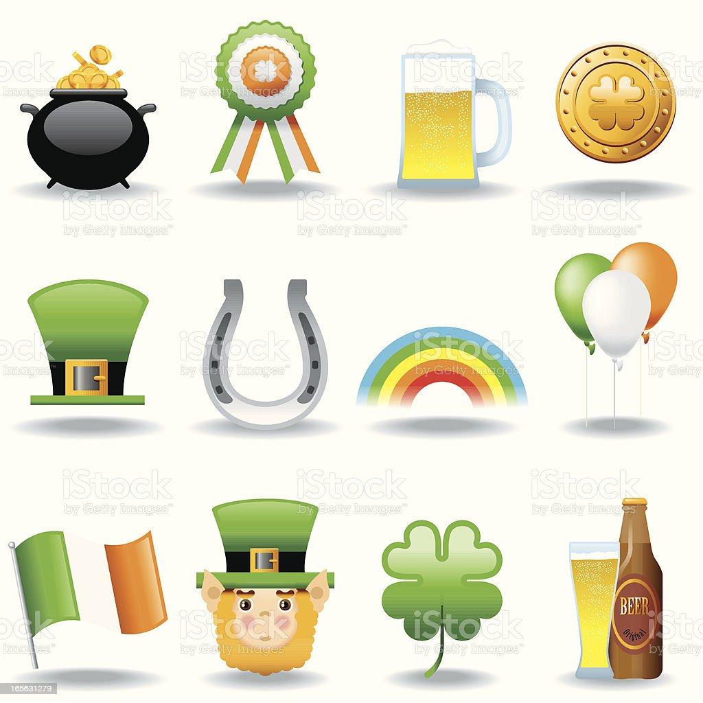 Icon Set, St. Patrick Day royalty-free stock vector art