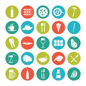 Icon set summer  food