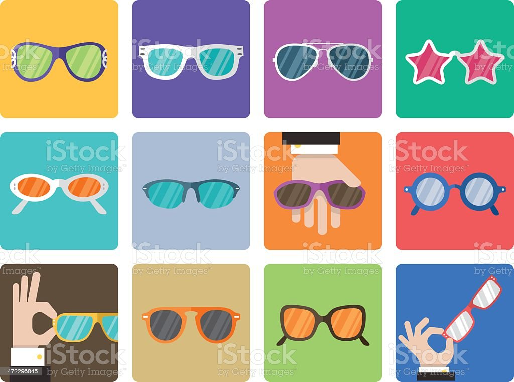 Icon Set, Sunglasses royalty-free icon set sunglasses stock vector art & more images of adult