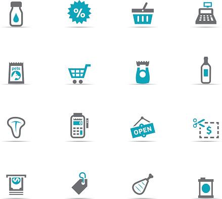 Icon Set, supermarket