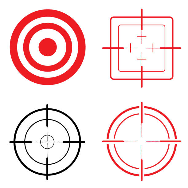 Icon set target and look. Ideal for training and institutional materials Icon set target and look. Ideal for training and institutional materials pointing stock illustrations