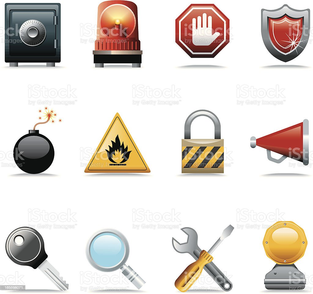 Icon Set, technology web royalty-free icon set technology web stock vector art & more images of alertness