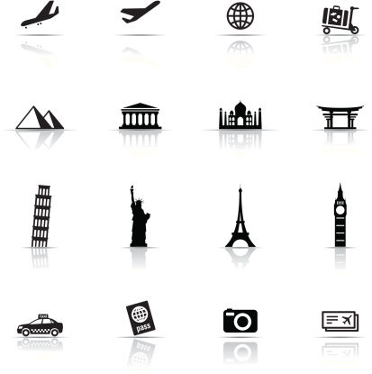 Icon Set, Travel items