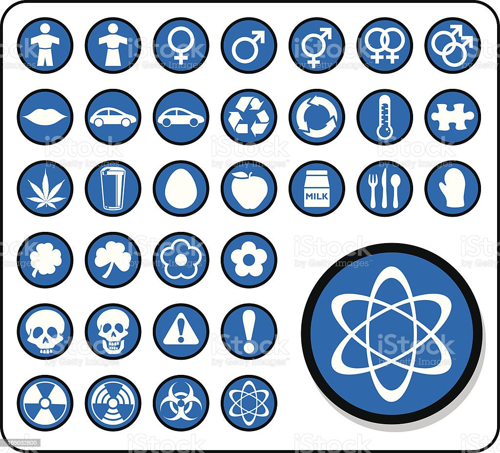 Icon Set (vector and raster) royalty-free stock vector art