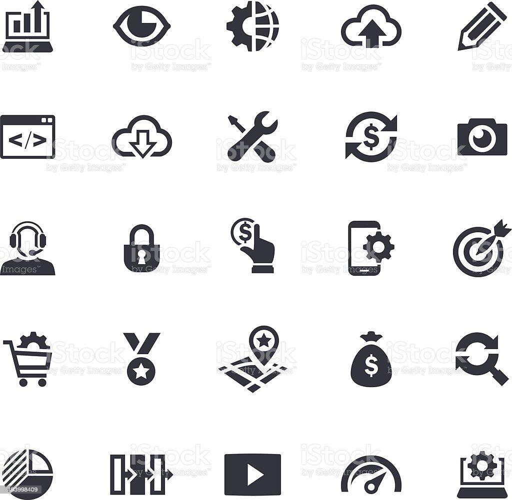 SEO Icon Set vector art illustration