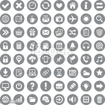 Icon set. Vector image.