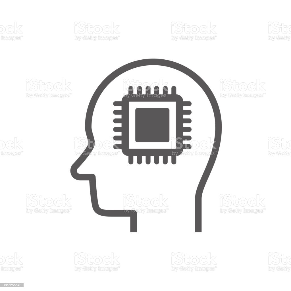 Ai Icon Set Stock Vector Art More Images Of Abstract 867255540 Circuit Board Background Free Graphics Download Artificial Intelligence Royalty