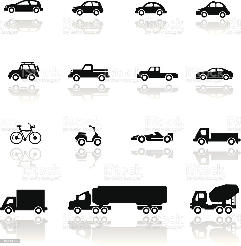 Icon set  Vehicles royalty-free icon set vehicles stock vector art & more images of bicycle