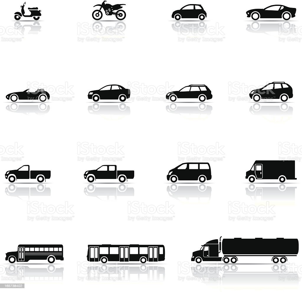 Icon set, Vehicles royalty-free stock vector art