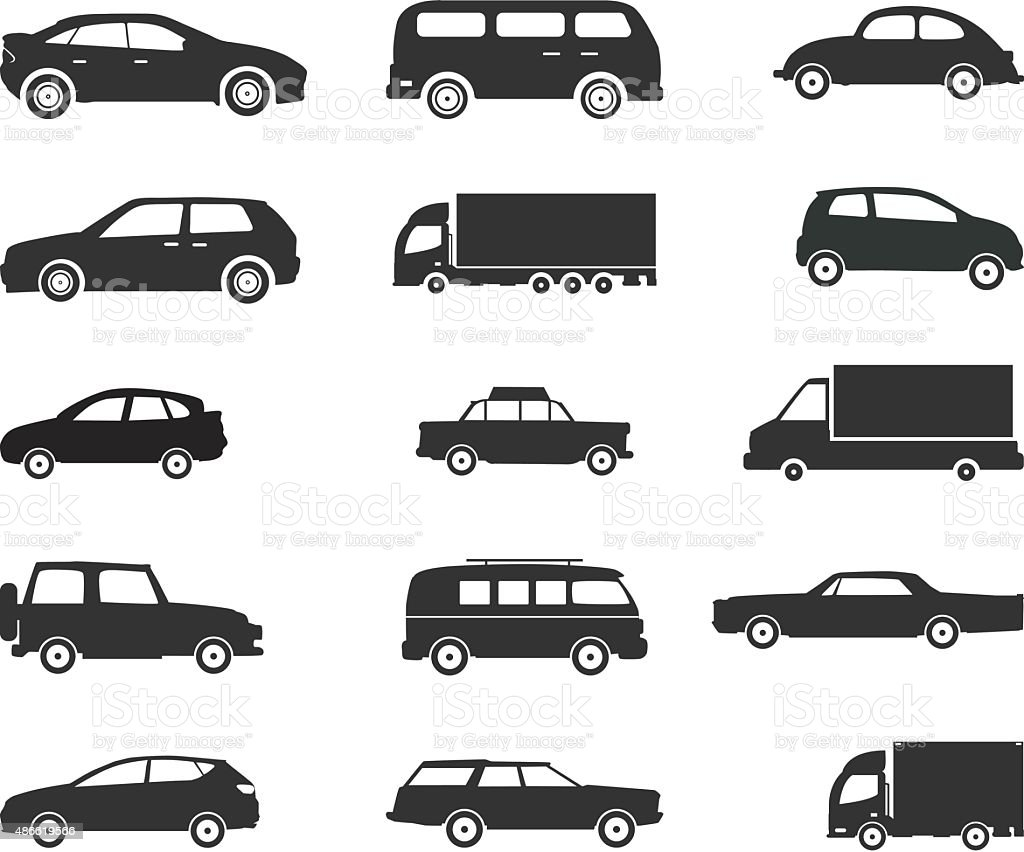 Icon set, Vehicles -  Vector Illustration vector art illustration