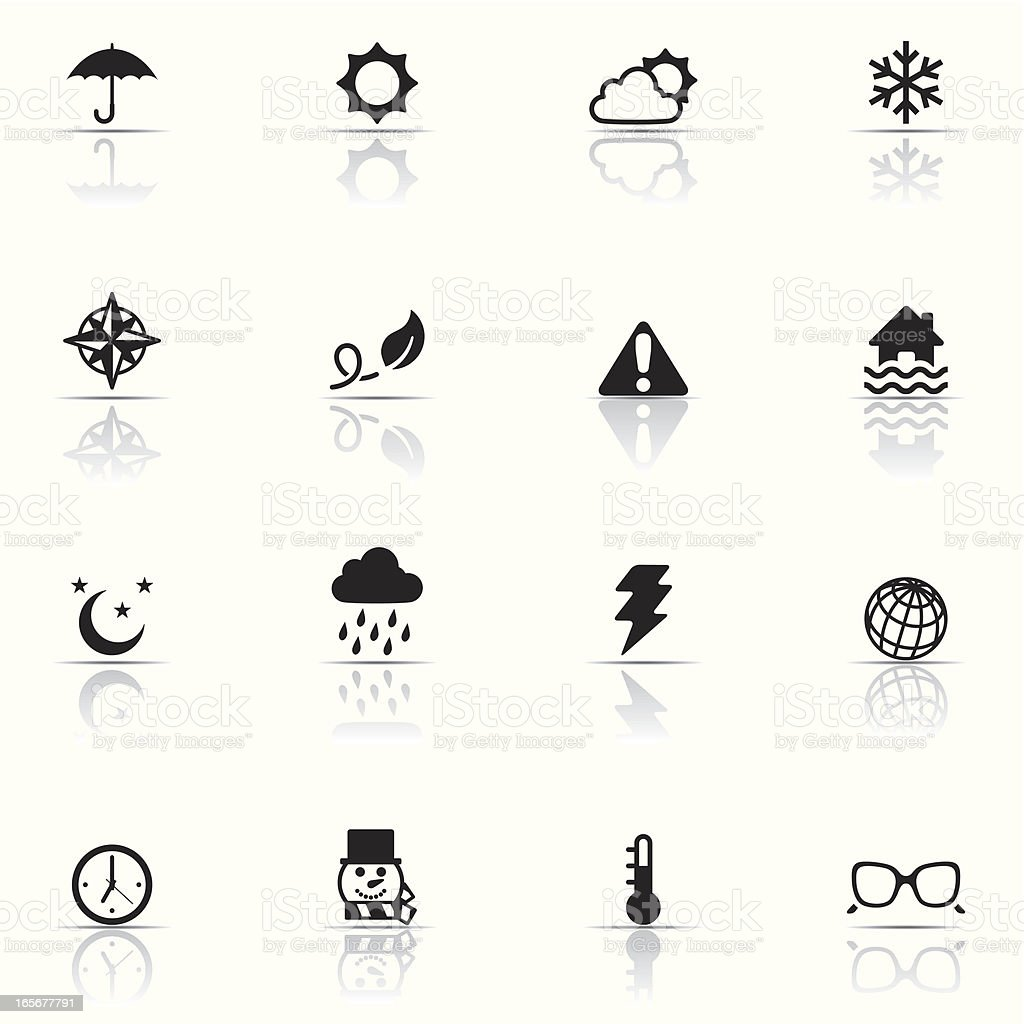 Icon set, Weather royalty-free stock vector art