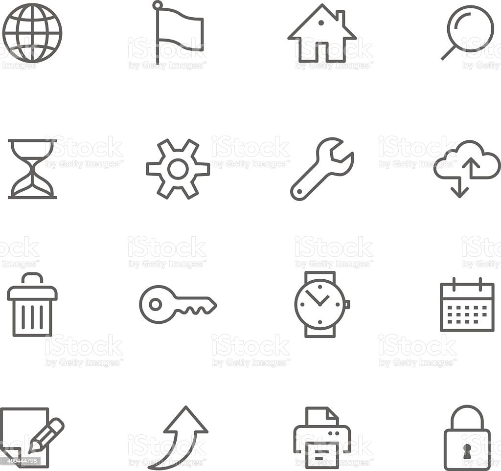 Icon Set, Web vector art illustration