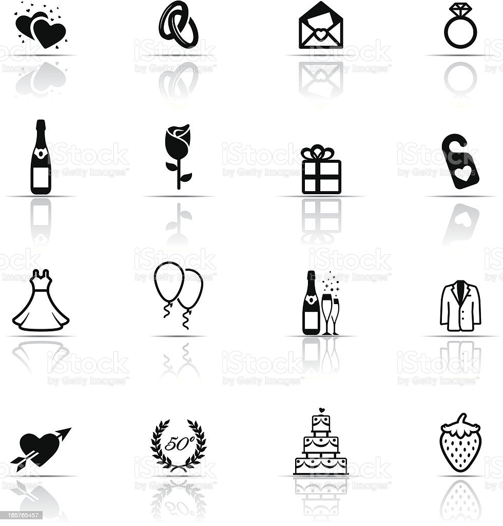 Icon Set, Wedding royalty-free icon set wedding stock vector art & more images of anniversary