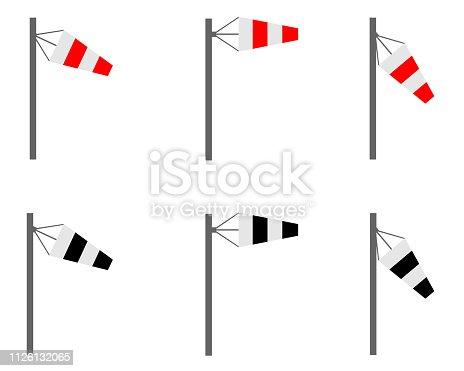 Icon set wind cone