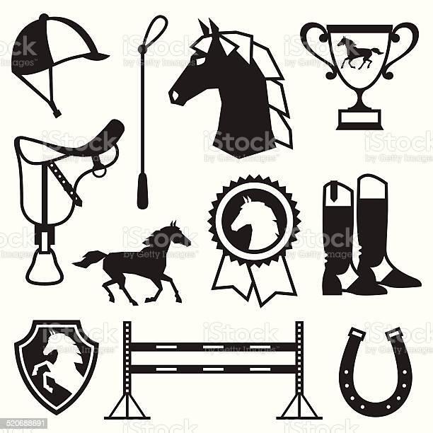 Icon set with horse equipment in flat style vector id520688691?b=1&k=6&m=520688691&s=612x612&h=yivqvex0ukqqbn844i6ycwra ze1fpgbcasrti4quns=