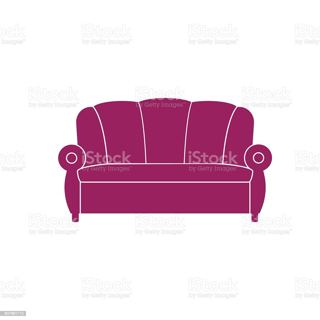 Icon Sofa Vector Stock Vector Art More Images Of Accessibility