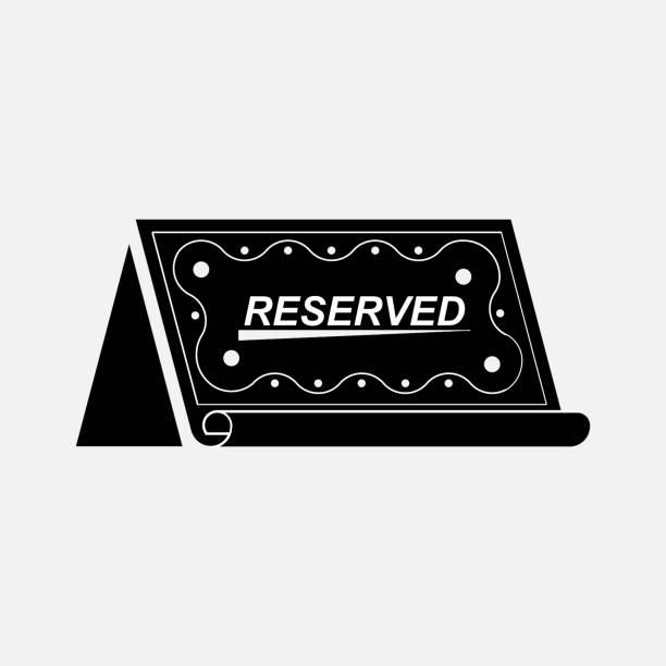 reservado el espacio del icono, reserva - ilustración de arte vectorial
