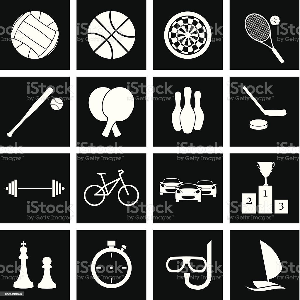 Icon sport royalty-free icon sport stock vector art & more images of activity