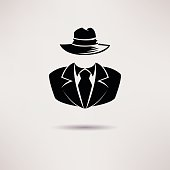 Icon spy, secret agent, the mafia Vector icon.
